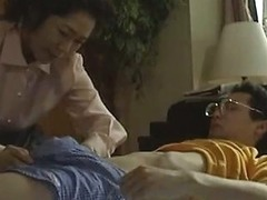 Naughty Japanese Housewife Is Happy Even For A Small Prick